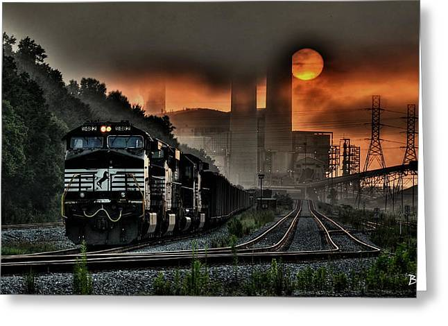 Recently Sold -  - Power Plants Greeting Cards - Sunrise Express Greeting Card by Bo Lamey
