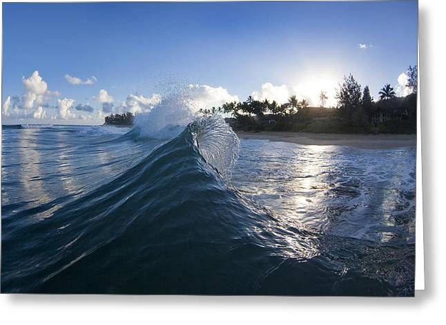 Ocean Energy Greeting Cards - Sunrise flair Greeting Card by Sean Davey
