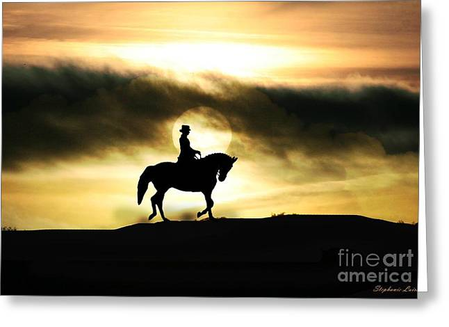 Dressage Photographs Greeting Cards - Sunrise Flow Greeting Card by Stephanie Laird