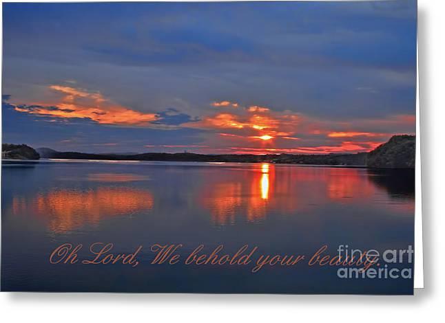 Sunrise Greeting Card by Geraldine DeBoer