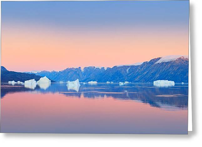 Acryl Greeting Cards - Sunrise Greenland Greeting Card by Henk Meijer Photography