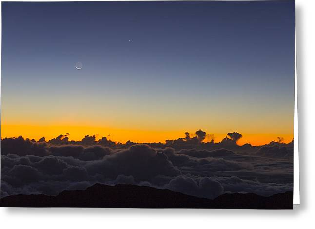 Sunrise Haleakala Volcano Greeting Card by Norman Blume