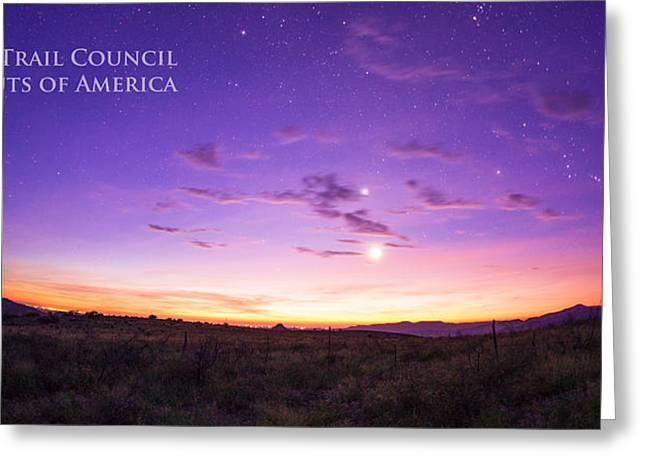 Summer Camps Greeting Cards - Sunrise Hike BTSR Greeting Card by Aaron S Bedell
