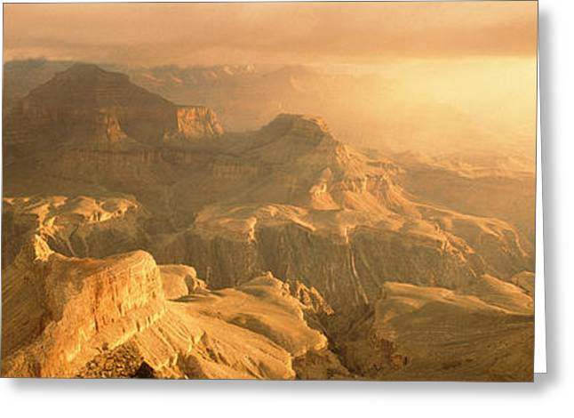Hopi Greeting Cards - Sunrise Hopi Point Grand Canyon Greeting Card by Panoramic Images
