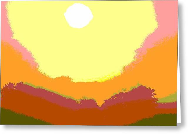 Hues Of Purple Greeting Cards - Sunrise Hue Greeting Card by Dan Sproul