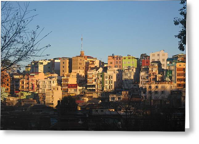 Dalat Greeting Cards - Sunrise in Dalat Greeting Card by Sandy Ramsey