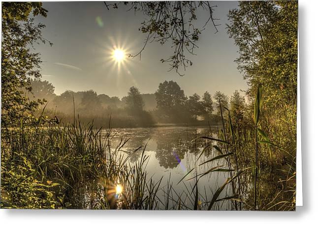 Limburg Greeting Cards - Sunrise in De Doort Greeting Card by Marc Crutzen