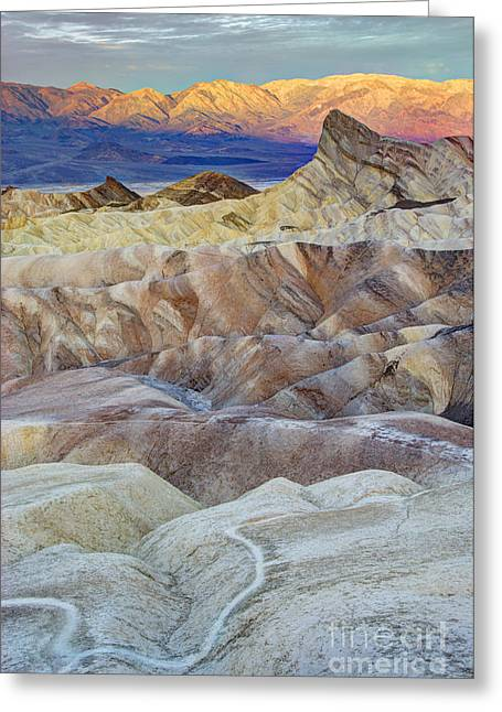 Landforms Greeting Cards - Sunrise in Death Valley Greeting Card by Juli Scalzi