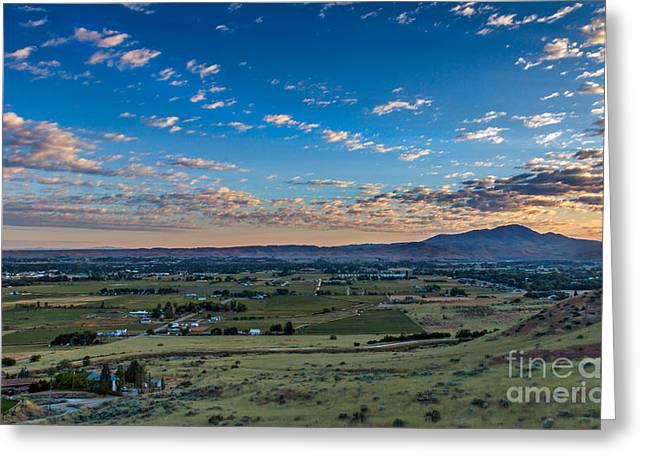 Sunrise In Emmett Valley Greeting Card by Robert Bales