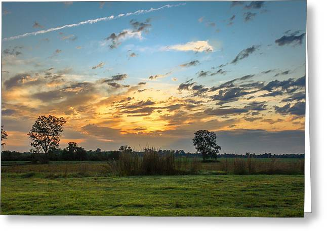 Ft Smith Greeting Cards - Sunrise In Ft Smith Greeting Card by Leroy McLaughlin