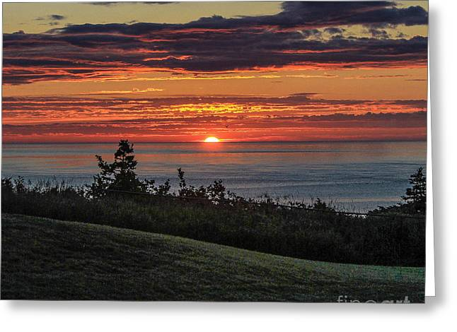Maine Shore Greeting Cards - Sunrise in Lubec Greeting Card by Joe Far Photos