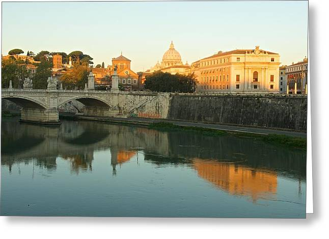 Basilica Di San Pietro Greeting Cards - Sunrise in Rome Greeting Card by Stephen Taylor