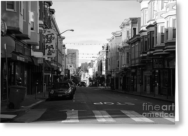 Beach Street Greeting Cards - Sunrise in S F Greeting Card by David Bearden