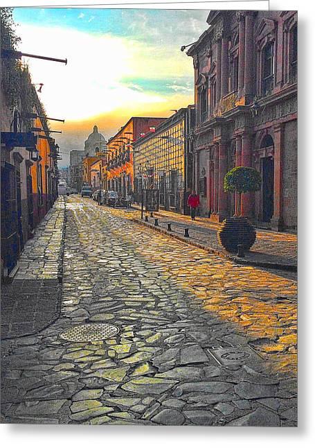 San Miguel De Allende Greeting Cards - Sunrise in San Miguel Greeting Card by Mike Durant