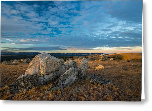 Sunrise In The Bighorn Mountains Greeting Card by Leland D Howard