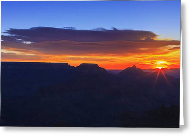 Scenic Drive Greeting Cards - Sunrise in the Canyon Greeting Card by Rick Furmanek