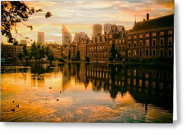 The Hague Greeting Cards - Sunrise in the Hague Greeting Card by Mountain Dreams