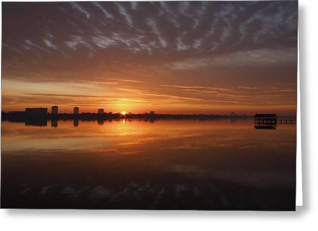 Sunrise Greeting Card by Kimberly Oegerle