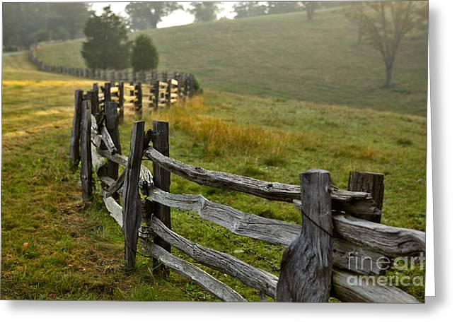 Pasture Framed Prints Greeting Cards - Sunrise Meadow - Blue Ridge Parkway I Greeting Card by Dan Carmichael