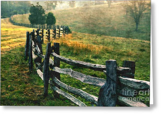Pasture Framed Prints Greeting Cards - Sunrise Meadow - Blue Ridge Parkway II Greeting Card by Dan Carmichael