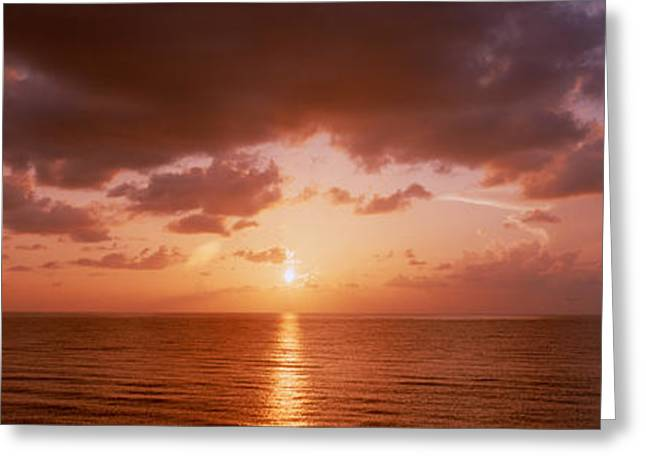 Fl Greeting Cards - Sunrise Miami Fl Usa Greeting Card by Panoramic Images
