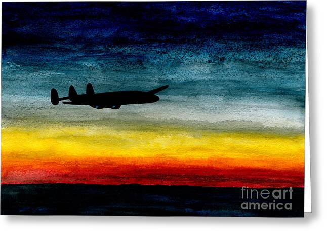 Eastern Air Lines Greeting Cards - Sunrise Near Iceland Greeting Card by R Kyllo