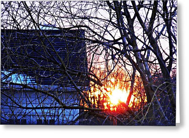 Sunrise Next Door Greeting Cards - Sunrise Next Door Greeting Card by Sarah Loft