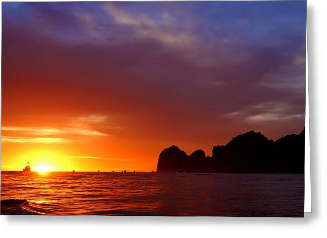 Swordfish Greeting Cards - Heavens Sunrise Greeting Card by Nikola Danevski