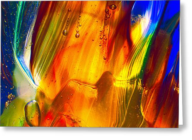 Magic Glass Art Greeting Cards - Sunrise Greeting Card by Omaste Witkowski