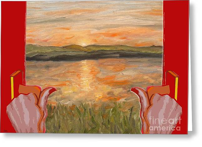 Fine Mixed Media Greeting Cards - Sunrise On A New Day Greeting Card by Patrick J Murphy