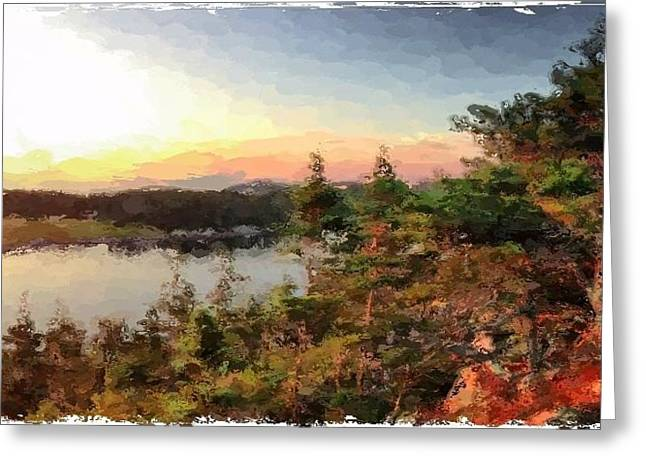 Sunrise On Bungie's Head Isle Au Haut Maine Greeting Card by Mary Fennell