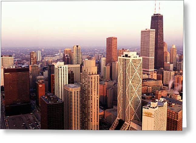 Cityscape Photograph Greeting Cards - Sunrise on Chicago Greeting Card by Jon Neidert