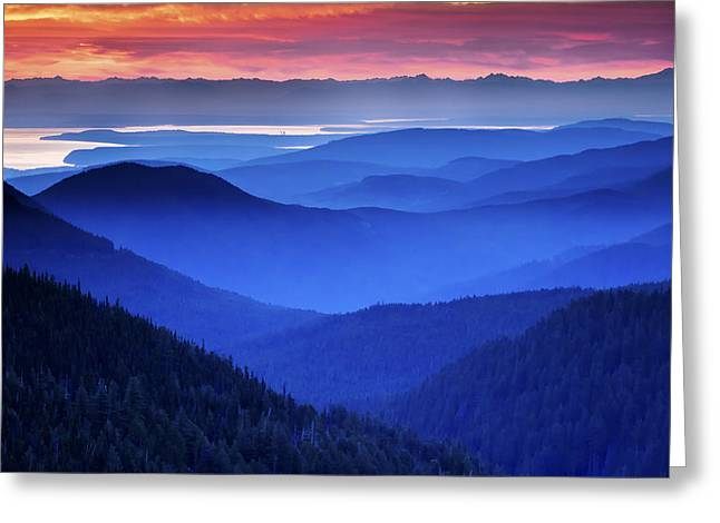 Outdoor Images Greeting Cards - Hurricane Ridge Sunrise Greeting Card by Kyle Wasielewski