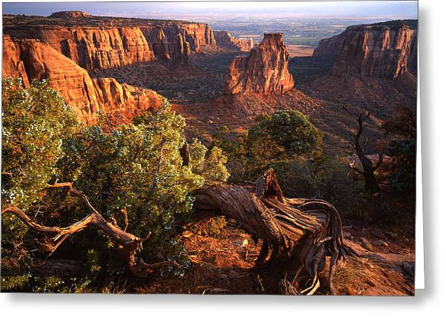 Monolith Greeting Cards - Sunrise on Indepedence Greeting Card by Ray Mathis
