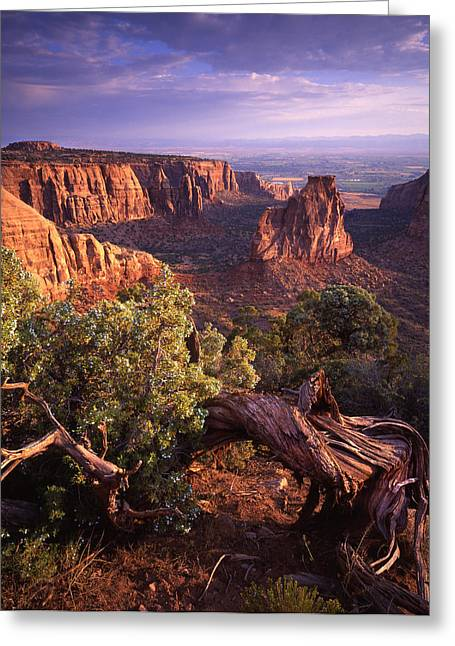 Scenic Drive Greeting Cards - Sunrise on Independence Greeting Card by Ray Mathis