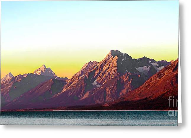 Outlook Greeting Cards - Sunrise on Jackson Lake Greeting Card by Robert Bales
