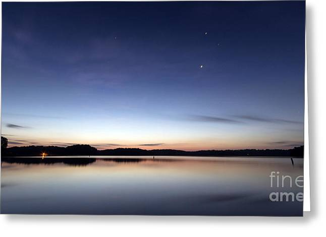 Usa Photographs Greeting Cards - Sunrise on Lake Lanier Greeting Card by Bernd Laeschke
