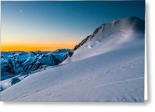 British Columbia Greeting Cards - Sunrise On Mount Garibaldi Greeting Card by Ian Stotesbury