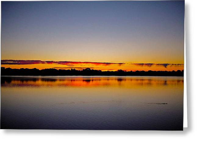 Spiegelung Greeting Cards - Sunrise on Riviere des Mille-Iles Greeting Card by Juergen Weiss