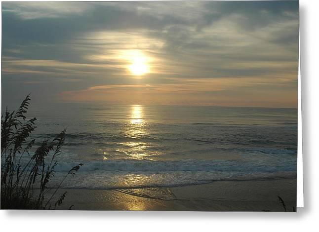Rodanthe Greeting Cards - Sunrise on Rodanthes beach Greeting Card by Angela  Prandini