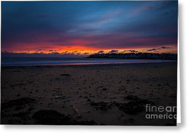 Sunrise On Shortsands  Greeting Card by Sue OConnor