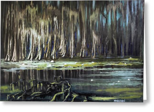 Swampland Greeting Cards - Sunrise on the Bayou Greeting Card by Melissa Herrin