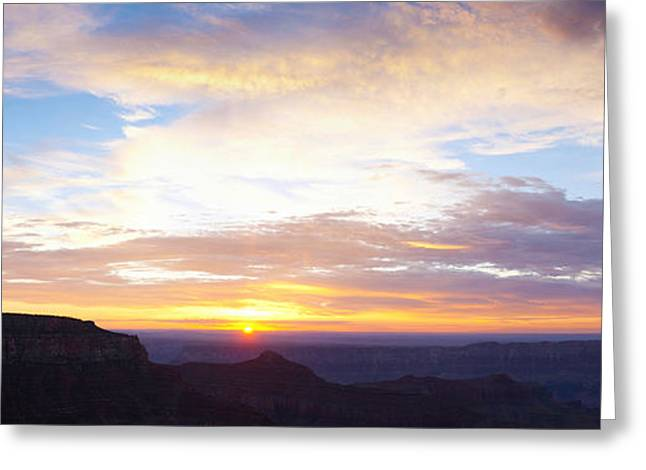 North Rim Greeting Cards - Sunrise On The Colorado Plateau Greeting Card by Panoramic Images