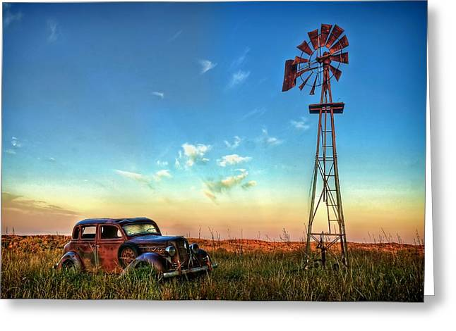 Sunrise On The Farm Greeting Card by Ken Smith