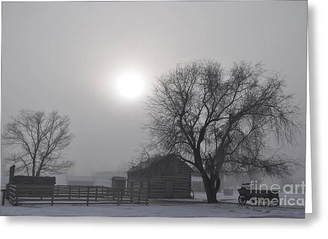 Fort Missoula Greeting Cards - Sunrise on the Fort Greeting Card by Stephan Ferry