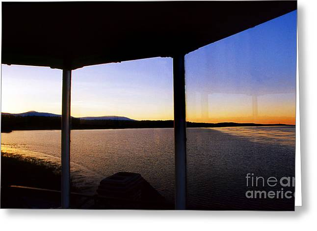 Saugerties Greeting Cards - Sunrise On The Hudson Greeting Card by Skip Willits