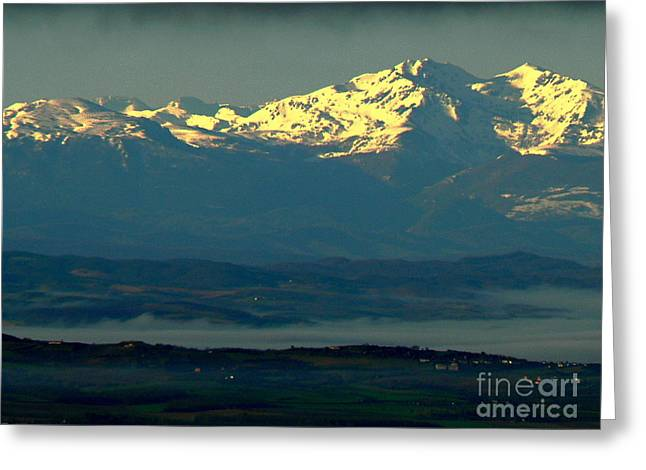 Languedoc Greeting Cards - Sunrise on the Pyrenees Greeting Card by France  Art