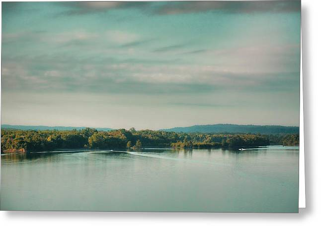 Tennessee River Greeting Cards - Sunrise on the River - Water Scene Greeting Card by Jai Johnson