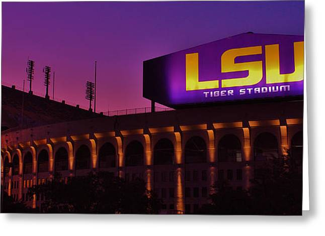 Sec Greeting Cards - Sunrise On Tiger Stadium Greeting Card by Nick Smith