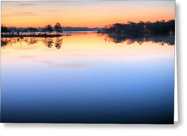 Sunrise On Toms Bayou Valparaiso Greeting Card by JC Findley